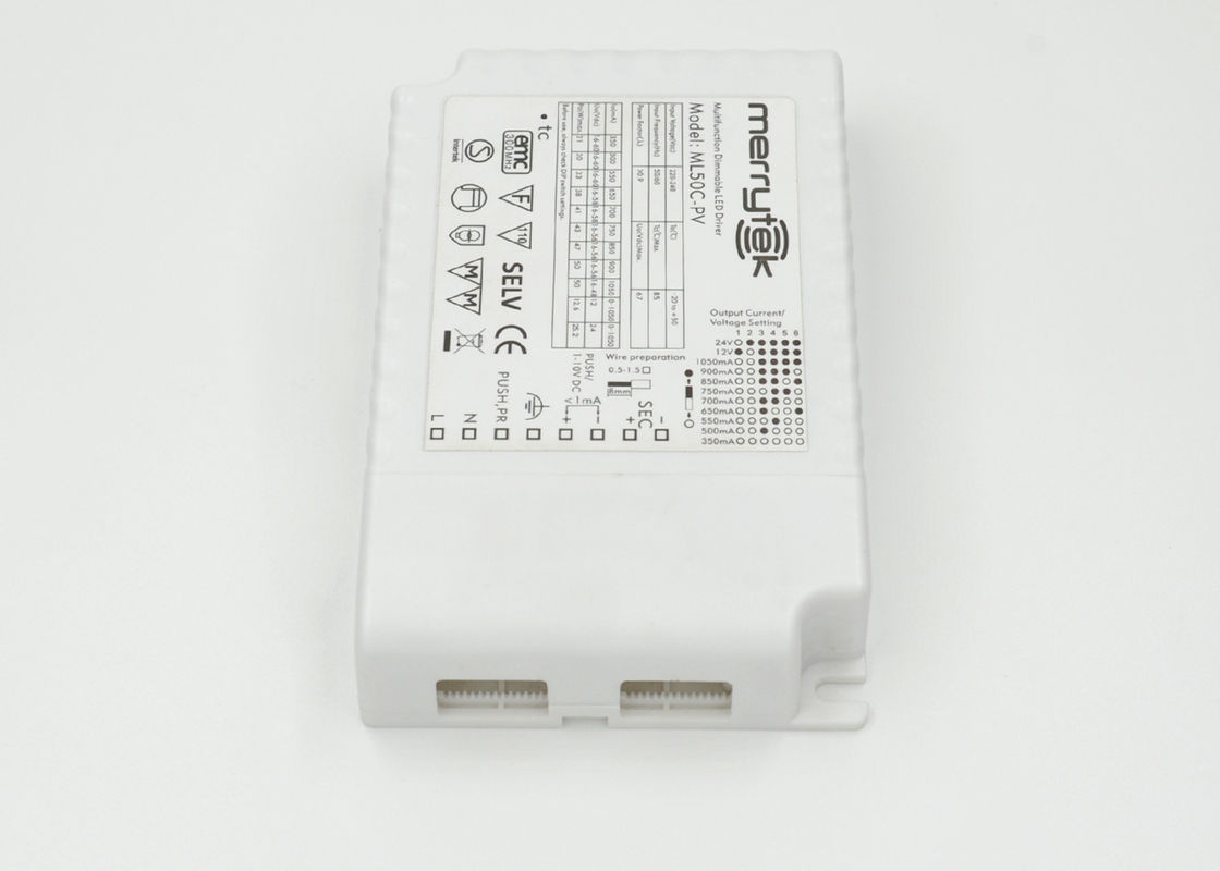 ML50C-PV 1x50w 0-10V / Push LED Driver Dimmable 350mA - 1050mA Multi - Output