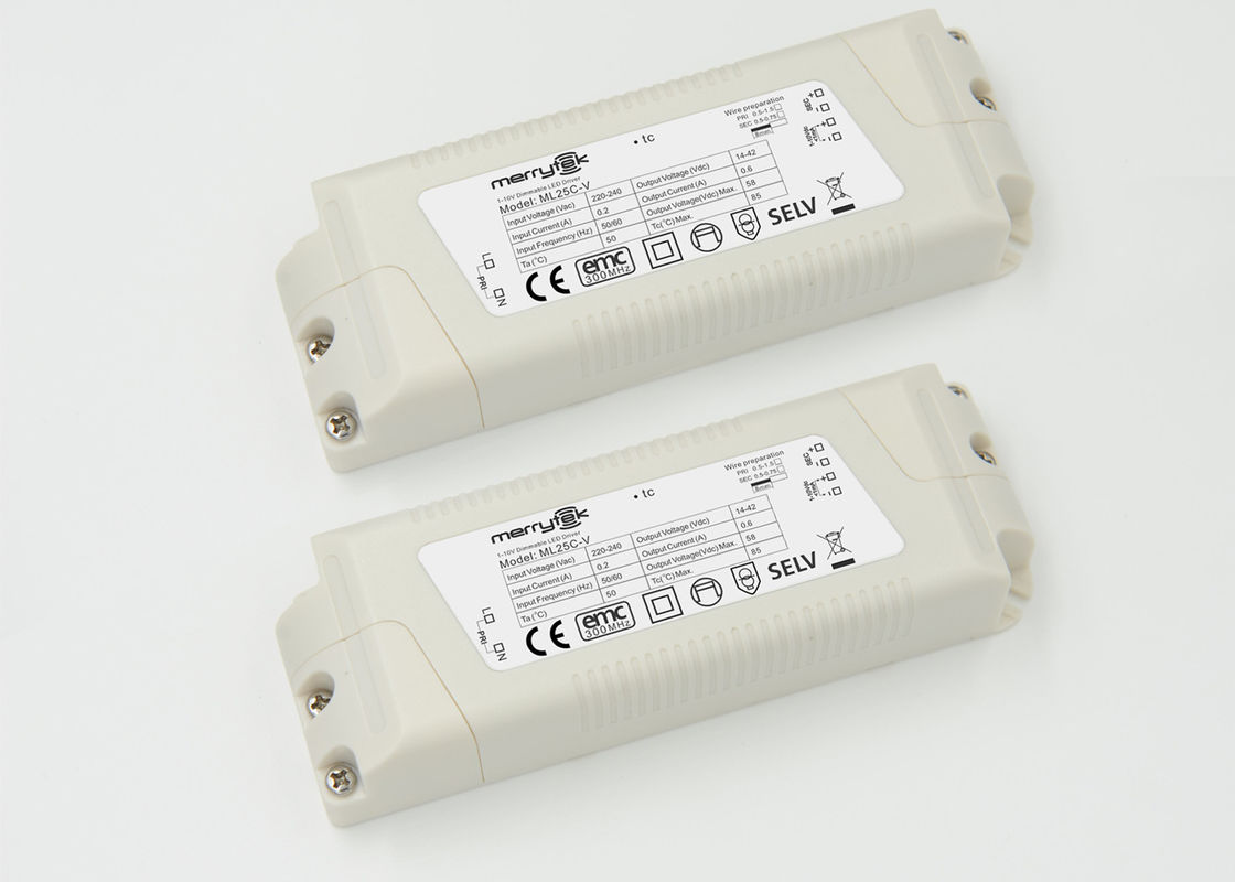 Customized Office Panel Light 0 - 10v Dimmable LED Driver 600mA Output