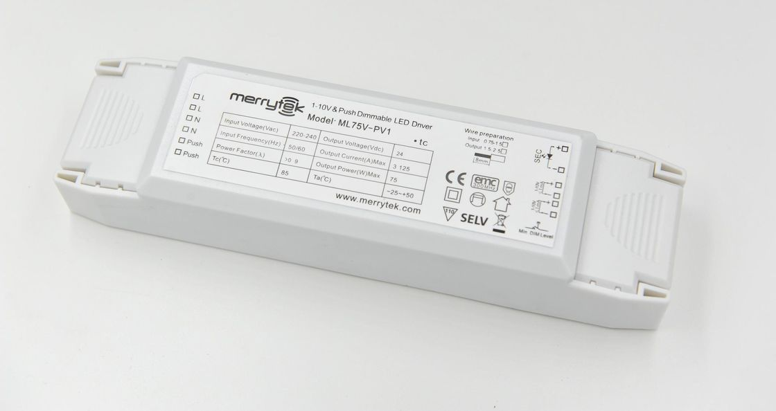 PUSH DIM Dimmable LED Driver 24Vdc 75w